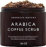 Brooklyn Botany Coffee Body Scrub and Face Scrub - 100% Natural Anti Cellulite Body Scrub & Stretch Mark Remover - Moisturizing Scrub For Eczema - Exfoliating Body Scrub For Women & Men - 20 oz